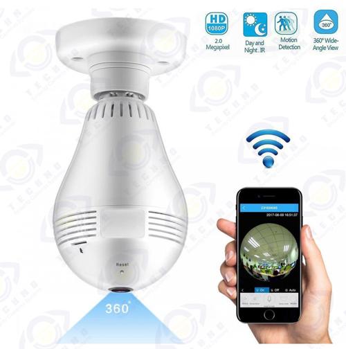 قیمت دوربین مدار بسته لامپی 360 درجه پانوراما fisheye