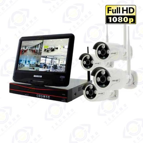 خرید پکیج دوربین مدار بسته بیسیم 4 تایی